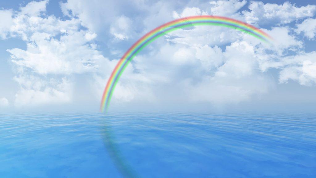3D-Meer-mit-Regenbogen